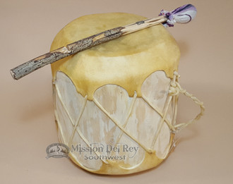 Native Rawhide Log Drum