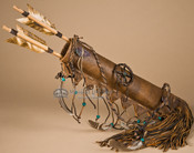 American Indian Deer Skin Quiver Set