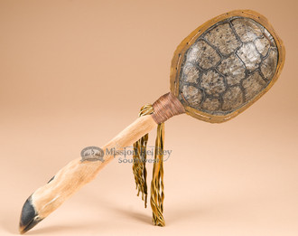 Deer Hoof Turtle Shell Rattle-Apache