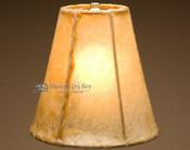 "Rustic southwestern rawhide lamp shade bell. 8"""