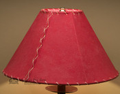 "Western Leather Lamp Shade - 14"" Red Pig Skin"