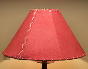 "Western Leather Lamp Shade - 16"" Red Pig Skin"