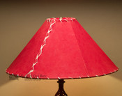 "Western Leather Lamp Shade - 20"" Red Pig Skin"