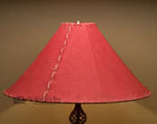 "Western Leather Lamp Shade - 22"" Red Pig Skin"