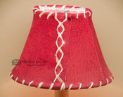 "6"" Red Leather Chandelier Shade"