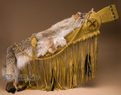 Antiqued Rifle Case with Coyote Pelt