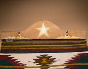 """Western Tapestry Rug Hanger 30""""- Star & Teepee (RH3)"""