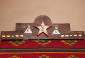 "Southwestern Zapotec Rug Wall Hanger 30"" -Teepee (RH35)"