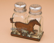 Metal Salt and Pepper Shaker - Horse
