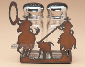 Metal Salt and Pepper Shaker - Team Ropers