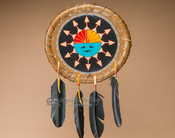 "Native American Rawhide Shield 11.5"" -Sun Face (S15)"