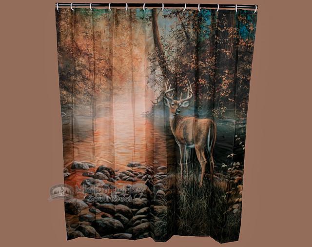 Southwest Cabin Shower Curtain Deer Sc3