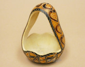 Hand crafted Andean gourd basket