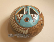 Authentic Hand Tooled Navajo Pottery Vase