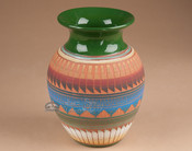 "Etchware Indian Clay Navajo Vase 7.75"" -Navajo (T8)"