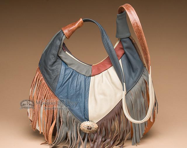 Multicolor Southwestern Leather Purse