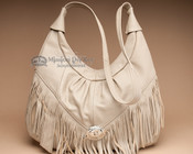 Beige Southwestern Leather Purse