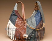 Fringed Leather Southwest Concho Purse