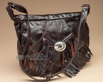 Rustic Western Leather Purse.