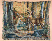 Wildlife Throw Blanket - Deer