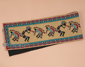 Southwestern Tapestry Woven Table Runner - Kokopelli