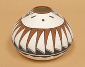 Hopi Sunface Seedpot - Tigua Pottery
