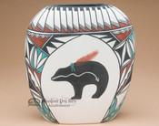 Pueblo Spirit Bear Pottery Vase