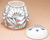 Tigua Hand Painted Vase & Lid