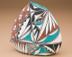 Beautiful Painted Pillow Vase - Tigua