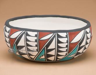 Southwest Painted Bowl - Fetish Bear