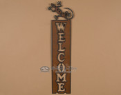 Metal Art Welcome Sign - Gecko