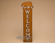 Metal Art Welcome Sign - Bear