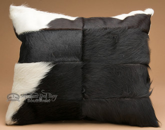 Genuine Handcrafted Cowhide Throw Pillow