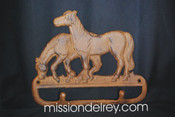 Cast Iron Horse Wall Rack -2 hook