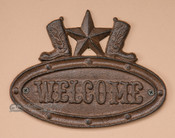 Iron Metal Welcome Plaque
