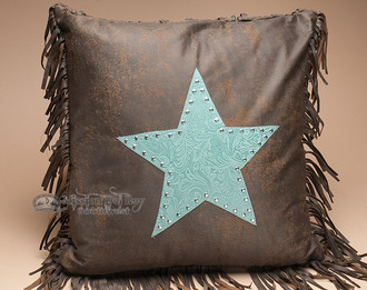 Plush Designer Western Pillow 18x18
