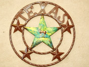 "Rustic Metal Texas Star 16"" -Deer"
