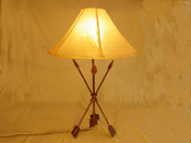 Wrought iron lamp, western, arrows