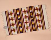 Zapotec wool woven rug.