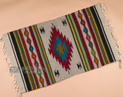 "Zapotec Indian Tapestry Rug 23""x39"" (131)"