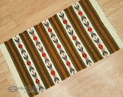 Zapotec Indian Wool Rug - 23x39