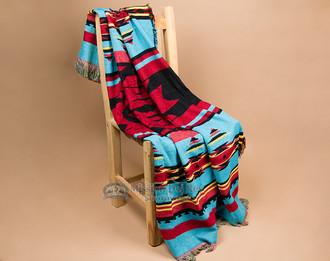 Designer Pueblo throw blanket -turquoise