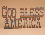 Metal Art Wall Sign - God Bless