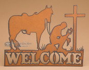 Cowboy Cross Welcome Sign