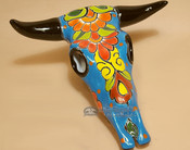 Hand Painted Talavera Steer Skull