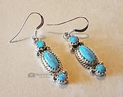 Silver Navajo Opal Earrings