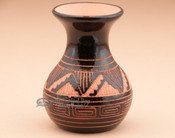 Etched Navajo Pottery Vase