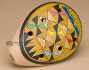 Hand Painted Andean Clay Ocarina