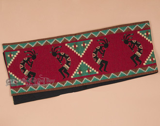 Tapestry Table Runner - Red Kokopelli