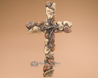 Rustic Stone Look Wall Cross